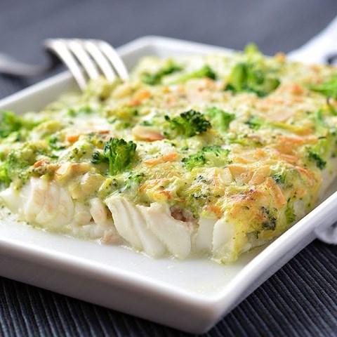 Obrázek z Filé s brokolicí, mandlemi, smetanová omáčka  330g