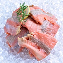 Obrázek Divoký losos keta, kousky filet v bloku cca 500g