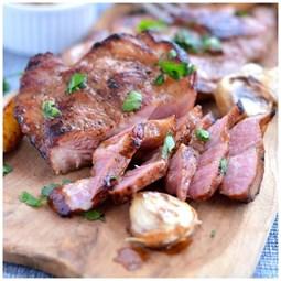 Obrázek Grilovaný steak z krkovice,med, bourbon cca 200g