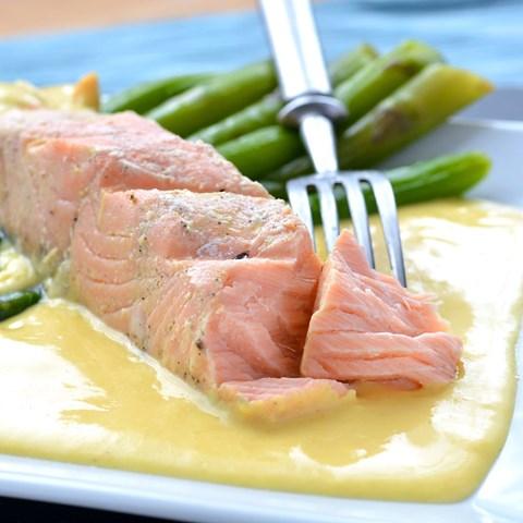 Obrázek z Grilovaný losos - holandská omáčka 200 g