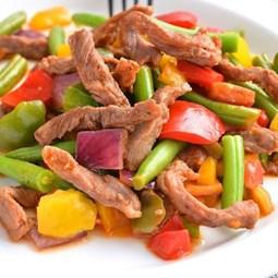 Obrázek Hovězí maso s fazolemi a paprikou 400g